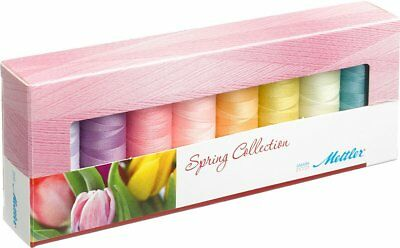 Mettler Seralon Assorted Embroidery Spring Thread Pack 8 x 200m Spools