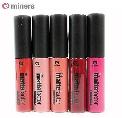 Matte Factor Lip Paint MINERS Cosmetics Lipstick Make up matt look new shades