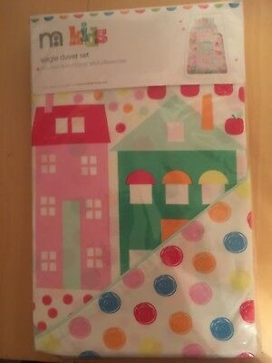 House And Tree Single duvet cover and pillowcase set bnwt 135x200 Cm