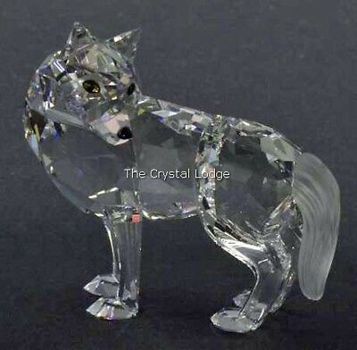 Swarovski Crystal Wolf 207549 / 7550 000 002 Mint Boxed Retired Rare
