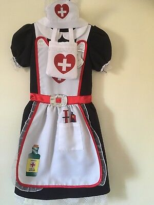 girls marks & spencers nurse costume age 5-6years with matching bag and headband