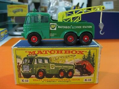 Vintage 60/70´s Matchbox Lesney King Size K-12 Heavy Breakdown Wreck Truck