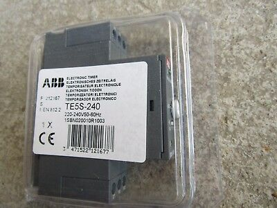 ABB ON Delay Single Time Delay Relay Screw 0.8-8s, 6-60s 220-240Vac H7BR 5123439