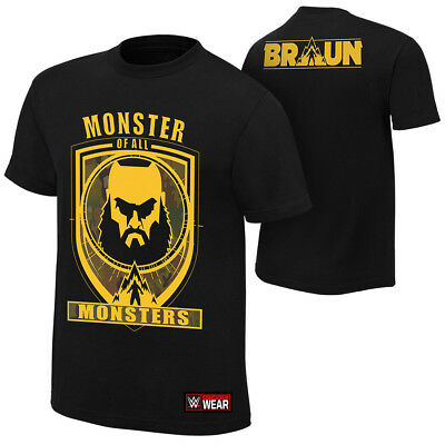 "Official WWE - Braun Strowman ""Monster of All Monsters"" Authentic T-Shirt"