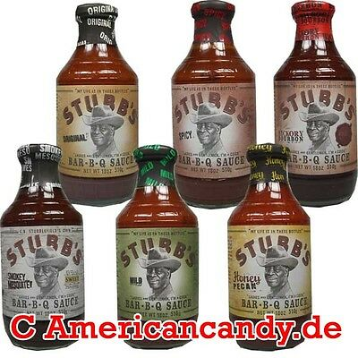 unique de US Koch : 4x Stubb's Barbecue Sauce 18,31€/ kg