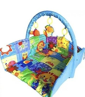 Blue Boys Baby Basket, Comfortable, Cushioned, Soft Toy Play Mat Pm157