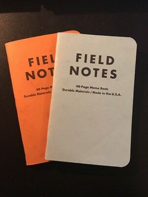 Field Notes Commemorative Reprint Notebook 2-Pack Butcher Orange Extra Blue