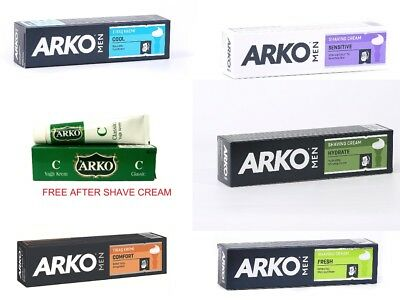 Arko Men Shaving Cream Soap 100ml + After Shave Healing Cream Balm Wet Shaving