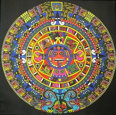 Printed Sew On Patch - MONSTER AZTEC CALENDAR - Colorful Calendar Back Sized !!