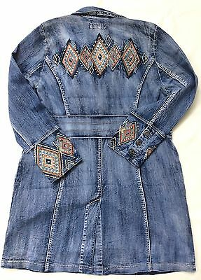 NWOT Midnight Velvet Denim Embroidered Duster Jacket (M, L, XL, 1X)