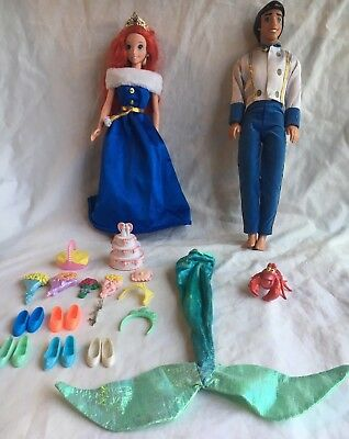 Mattel Disney The little Mermaid Princess Ariel and Prince Eric Dolls