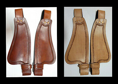 Leather Western Saddle Replacement Small Adult/Youth  Fenders Tan & Medium Oil
