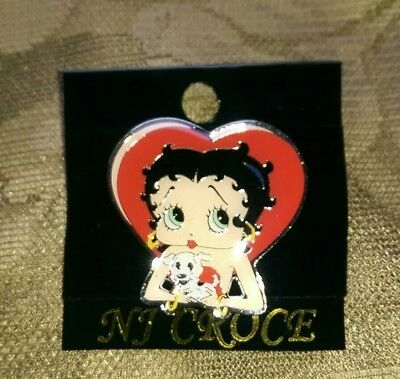 Betty Boop Heart Enameled Pin  New  NJ Croce Quality