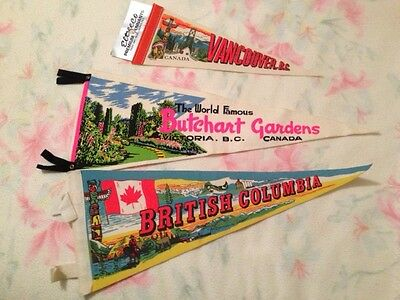 3 pennants - Canada - from the 1970s