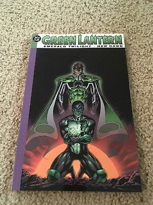 Green Lantern: Emerald Twilight New Dawn RARE OOP softcover graphic novel Marz