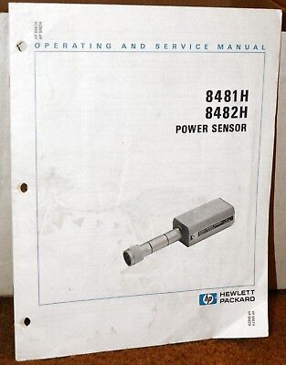 Hewlett Packard 8481H 8482H Power Sensor Operating and Service Manual
