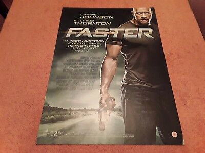 Faster UK Movie Promo Poster. Manufactured in Support of the DVD. The Rock