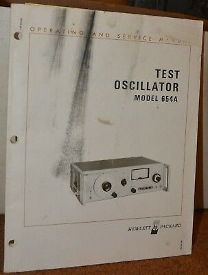 Hewlett Packard 654A Test Oscillator Operating and Service Manual HP