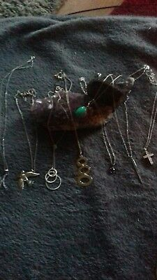 Job lot sterling silver jewellery