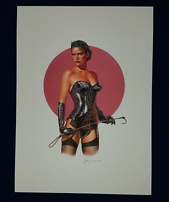 Erotik Nude Sexy fine art Litho Collection Sorayama Pin-Up Erotic Drawing Signet