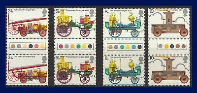 1974 SG950-953 3½p-10p Fire Set (4) Traffic Light Gutter Pairs MNH Cat £60 abbb