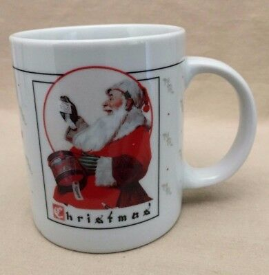 "The Norman Rockwell Gallery Christmas Mug ~ 1992 ""A Dream For Tommy"" #82504"