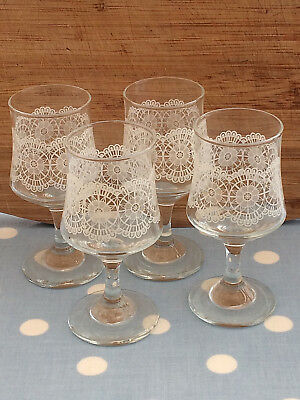 Vintage Sherry Glasses, Set of 4, VGC