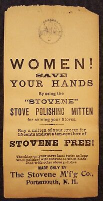 Stovene Stove Polishing Mitten Grocery Sack - Women Save Hands! Portsmouth, NH