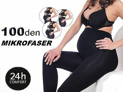 Warm 100 Den Maternity Stockings Opaque S-XXL Maternity Tights