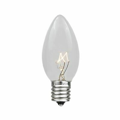 25 Pack C9 Outdoor Christmas Replacement Bulbs, E17/C9 Intermediate Base