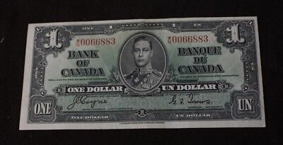 1937 $1 Bank of Canada W/N Coyne Towers BC-21d EF+