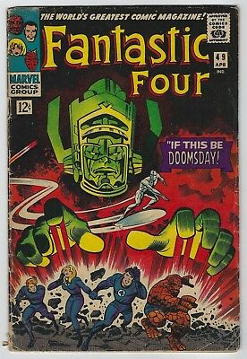 Fantastic Four #49 (1966, Marvel) 2nd Silver Surfer & Galactus, Lee, Kirby, G/G+