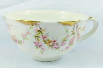 Theodore Haviland Varenne Tea Cup(s) Roses Pink Gold Excellent (8 Avail)
