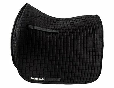 Back on Track Therapeutic Dressage Saddle Pad - Double Pack - Black or White