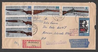 DDR envelope with Rifles 1978