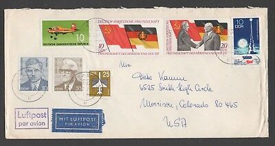 DDR envelope with DDR - USSR Friendship theme, mailed Dec 12, 1987