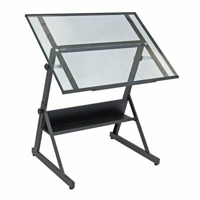 Studio Designs Solano Adjustable Glass Drafting Table