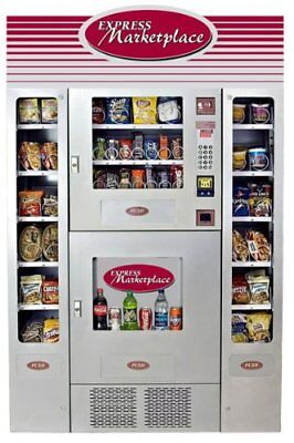 Express Marketplace Combo Snack/soda Vending Machine Seaga Em420 Office Deli