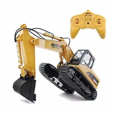 RC Metal Excavator Electric Toy 15Ch 2.4G 1/14 Scale Model Yellow Black NEW