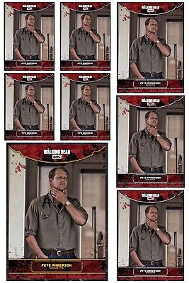 AMONG THE SHEEP WAVE 2 GOLD + 7x WHITE PETE ANDERSON Walking Dead Digital Card