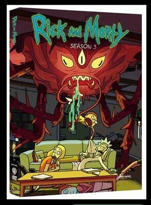 Rick and Morty Season 3 The Complete 3rd Season DVD 2017 2 Disc BRAND NEW SEALED