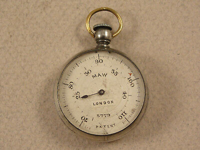 Mappin & Webb Miniature Silver Antique THERMOMETER c1910