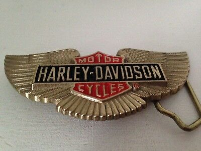 HARLEY DAVIDSON Solid Brass BARON Belt Buckle 1991