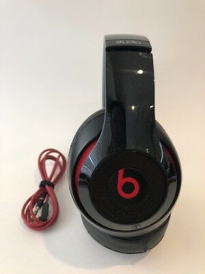 Authentic Beats by Dr. Dre Studio Wired Headphones - Gloss Black - Works Great