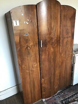 large bedroom wardrobe real wood wooden antique cupboards good condition