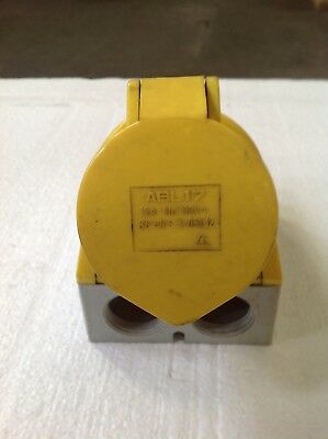 BS4343 Yellow Surface Socket 16A 3Pole+N+E  110v Pack of 2