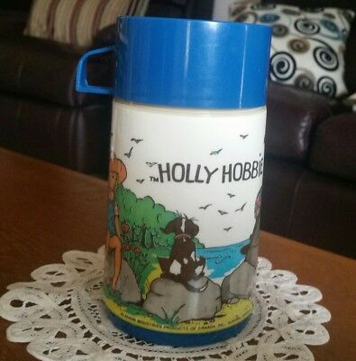 Vintage Aladdin Canada Holly Hobbie Plastic  227Ml Thermal Bottle Flask