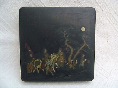 Antique Hand Painted Chinese Lacquer Box