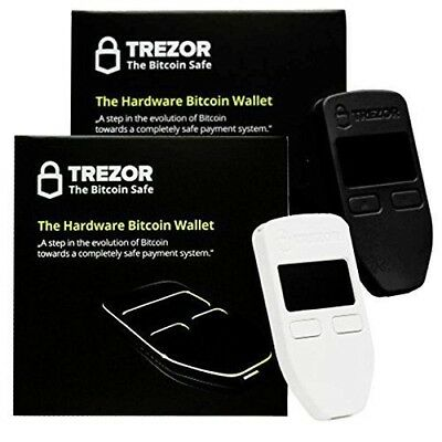 Trezor One Bitcoin Hardware Wallet Black and White Combo Pack,AUTHORIZED RETAIL