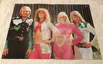 ABBA 1975 Cover Mick Ronson - Sweden Swedish Poster Magazine 1970s VERY RARE